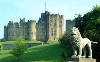 Alnwick Castle, seat of the earls of Northumberland