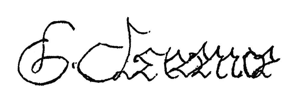 Signature of the duke of Clarence
