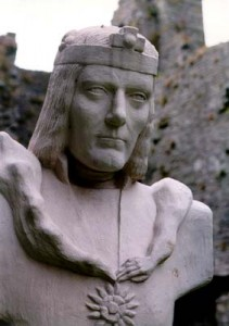 Linda Thompson's King Richard III Detail of the statue