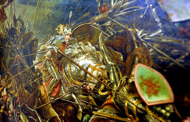 King Richard's charge at the Battle of Bosworth by William Bass